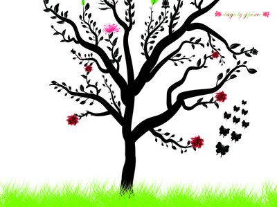 Tree Illustration (design by rj prince) illustration