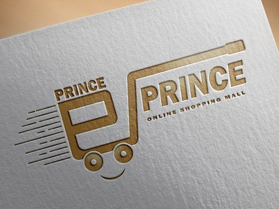 e PRINCE Shopping Mall Logo Design (design by rj prince) illustration logo branding icon design