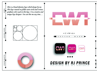 'CWA' Letter Mark Logo (design by rj prince)