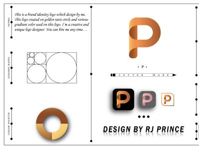 'P' Letter Mark Logo (design by rj prince) design logo icon