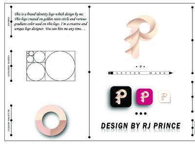 'P' Letter mark Logo Design (design by rj prince) logo design icon