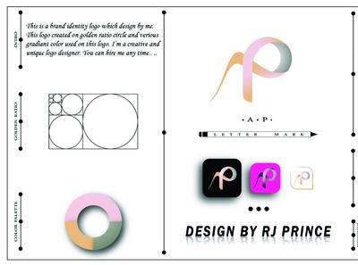 'AP' Letter mark Logo Design (design by rj prince) logo design icon