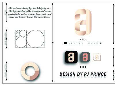 'a' Letter mark Logo Design (design by rj prince) design logo icon