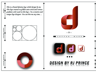 'd' Letter mark Logo Design (design by rj prince) design logo icon