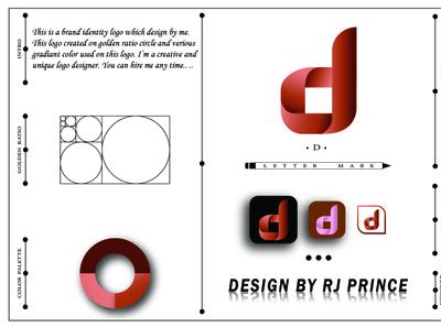'd' Letter mark Logo Design (design by rj prince) design logo icon