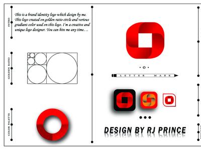 'O' Letter mark Logo Design (design by rj prince) design logo icon