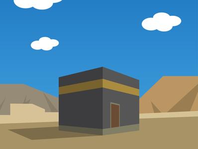 Kaaba flat design wallpaper adobe illustrator illustration