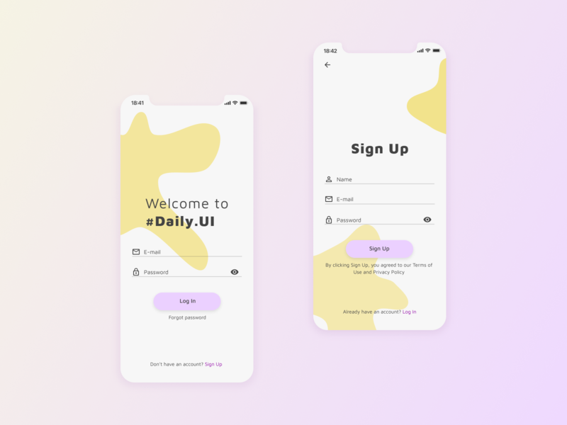 Daily UI :: 001 — Sign Up signup sign app ui design dailyui 001 dailyui