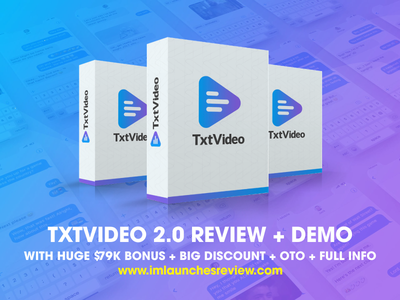 TXTVideo 2 0 Review + Huge $79K Bonus + BIGT OFF + OTO txt video 2.0 otos txt video 2.0 otos