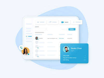 Concept for Wavecell (by 8x8) light blue uidesign ui admin design admin panel interface animated animation design illustration