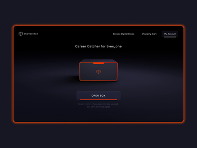 Encredibox. What's inside the box? web developer web marketing web design website gift box course fire orange gaming cinema4d box dark blue dark illustration animation animated 3d ui interface design