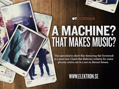 Elektron Flyer Tweeked postcard flyer cinema knockout