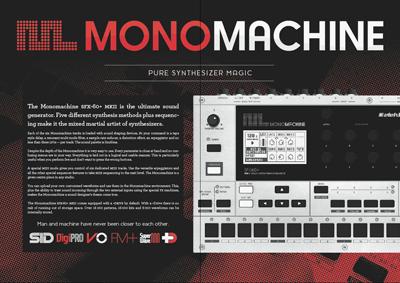 Product Catalogue #3 elektron monomachine synthesizer