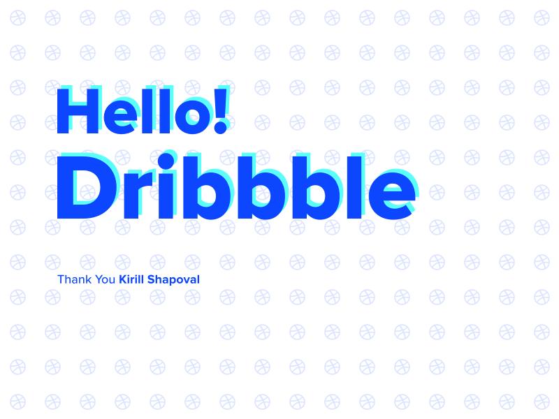 Hello Dribbble! thank you debut
