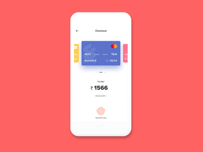 Daily UI - #002 credit card touch id payments checkout dailyui 002