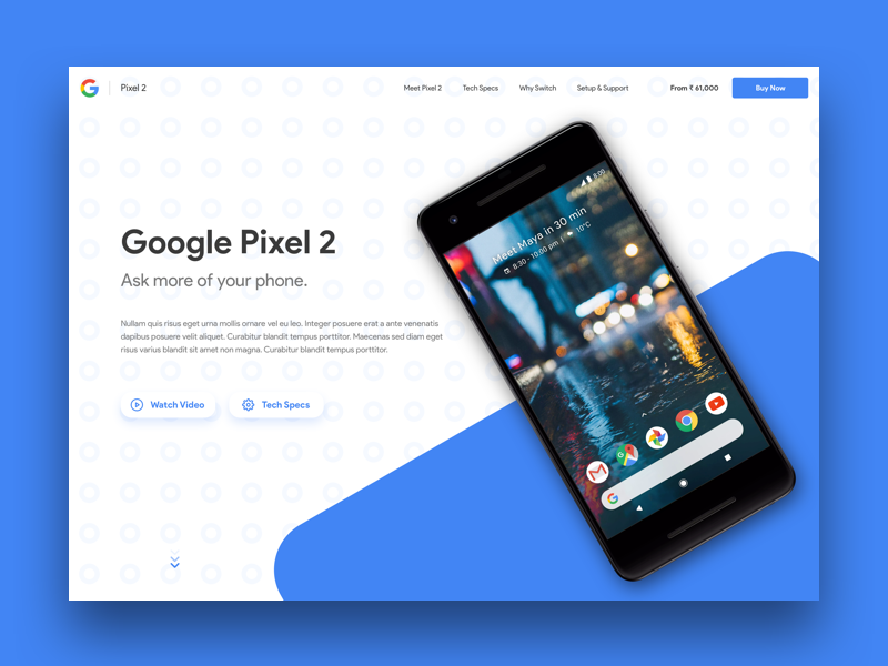 003   landing page   dribbble