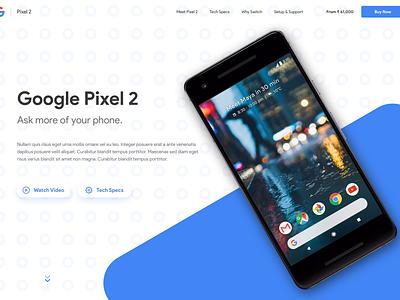 Daily UI - #003 product sans landing page google dailyui pixel2