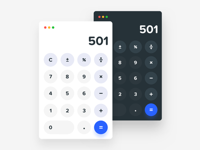 Daily UI #004 - Calculator apple macos dailyui calculator