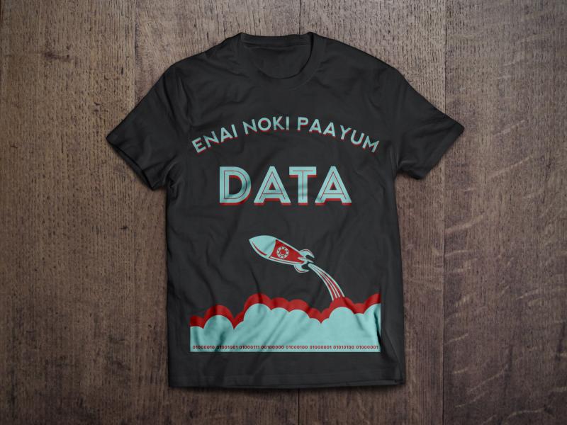 Enai Noki Paayum Data dark dual tone tamil swag tshirt