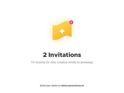 2x Dribbble Invite invites invitations invitation invite