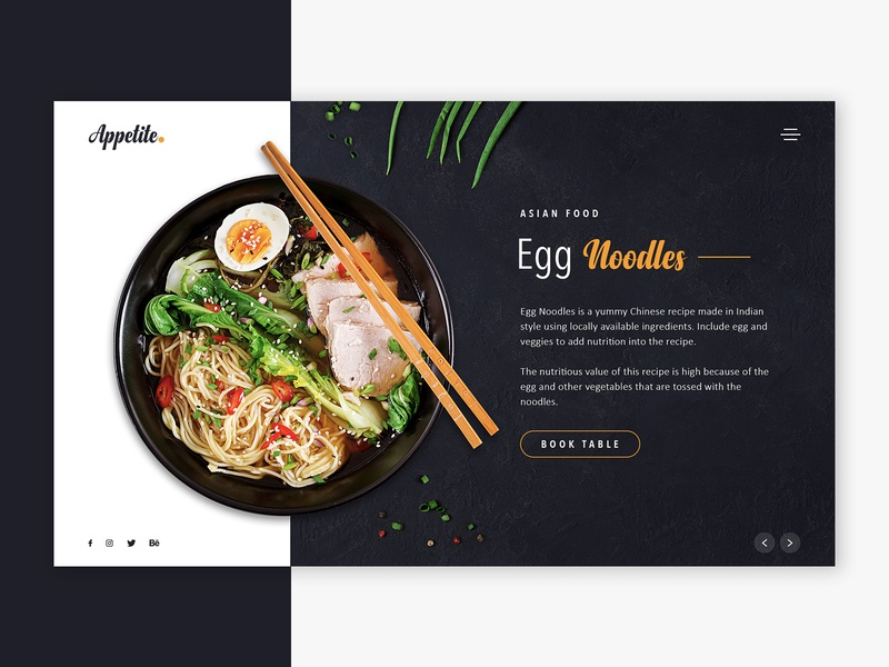 Landing page concept for food/ restaurant creative design website design ui design web design ui web food website