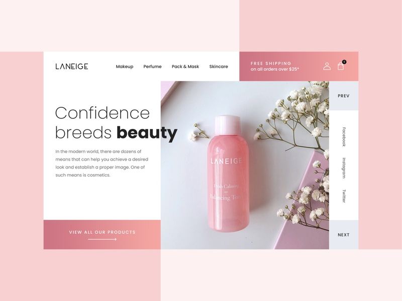 Website design concept for Cosmetic Business ui web creative design landing pages landing design cosmetic mockups cosmetic mockup cosmetics design ui design website design web design creative