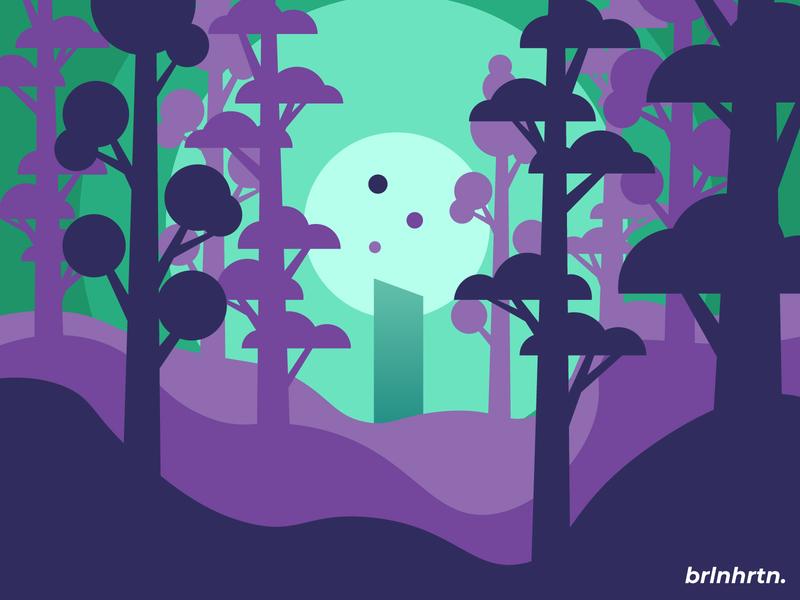 The Statue novel monochrome hardwork challenge design illustration sunset statue tree green purple simple mountains flatdesign vector minimal illustrator illustration flat design art
