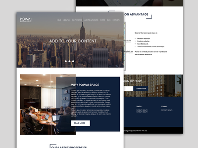 powai ui pegalogics design homepage