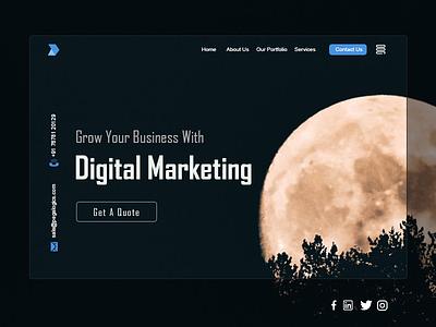 Home page UI/UX design uiux uxdesign ui design