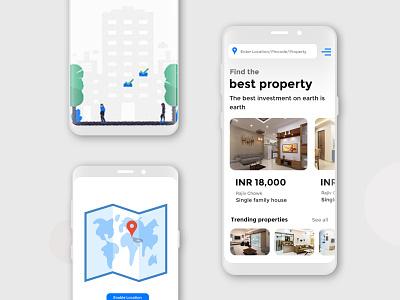 Real estate Mobile App UI Desgin ui desgin mobile app design real estae