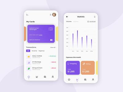 FinTech App Design mobile app design fintech app uiux ui design app design