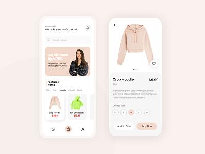 E-Commerce Mobile App Design shopping app uiux ui e-commerce app mobile app design photoshop ui design uides