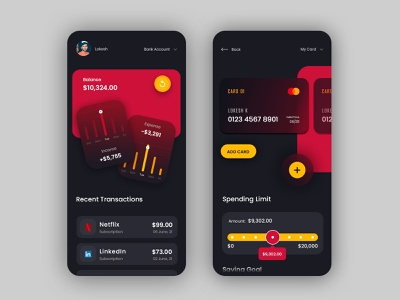 FinTech App UI Design illustration mobile app fintech app fintech design app appdesign ui design ui desin