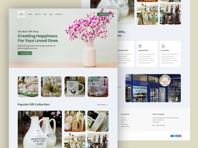 Gift Shop Home Page Design photoshop gift shop design gift shop ui ux ui design homepage