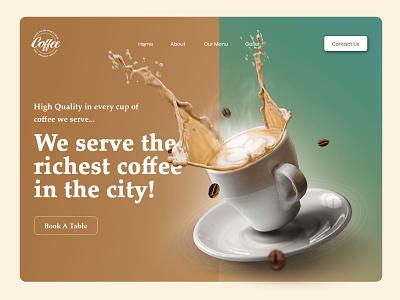 Coffee House Homepage ui design design ui ux coffehouse homepage ui