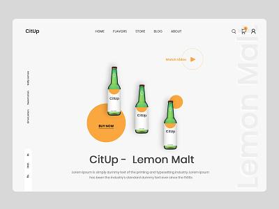 Lemon Drink Store design lemon drink ui drink ecommerce homepage web design ui design