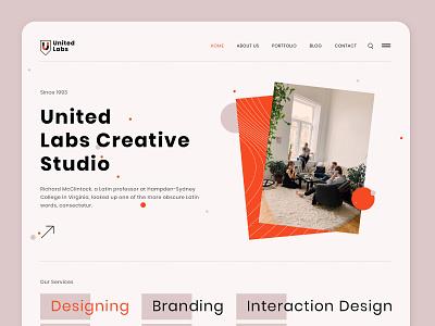Creative Studio - UI branding illustration photoshop creative studion studio homepage design ui design