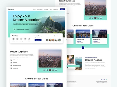 Travyard - Tour & Travels tour and travels travels webdesign design app ui design homepage ui design