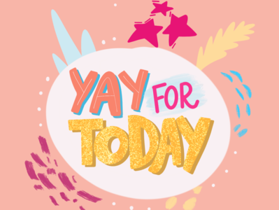 FRIYAY vector typography procreate illustration handlettering glitter feminist art design colorful