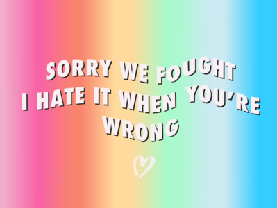 SORRY WE FOUGHT girl power vector typography procreate illustration handlettering glitter feminist art design colorful
