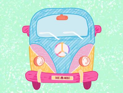 BABE MOBILE girl power vector typography procreate illustration handlettering glitter feminist art design colorful