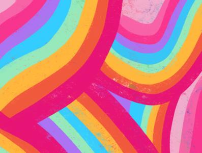 RAINBOW girl power vector typography procreate illustration handlettering glitter feminist art design colorful