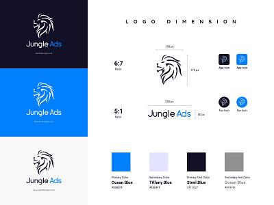 Jungle Ads   Logo Design   Brand Identity   Marketing Platform mobile print typography product design jungle lion design marketing animation motion graphics 3d graphics flat  design minimal illustration brand identity branding logo graphic design