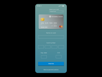 Daily UI Day 2 – Credit Card Form