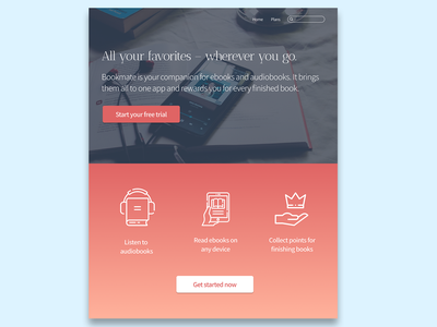 Daily UI Day 3 – Landing Page