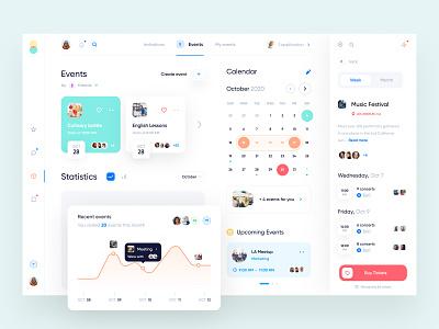 Event management app concept tickets planning events calendar design app ux ui