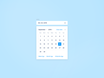 Datepicker Component component input plan timeline timeframe select period calendar dates date range date picker datepicker date