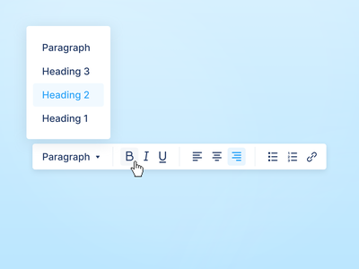 Rich Text Popup editor popup dropdown rich text tooltip wysiwyg fonts content