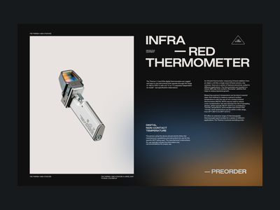 IR Thermometer – Preorder infrared thermometer concept lab promo preorder grid gradient render