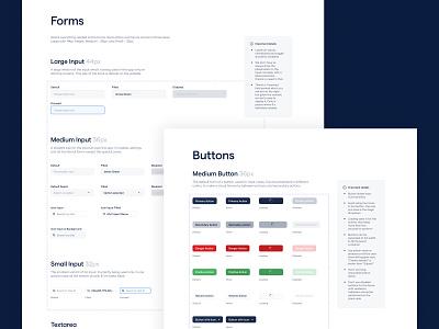 Design System Fragment documentation input buttons guidelines styleguide design system